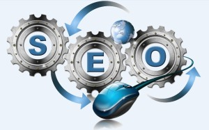 Concept of cogs of the SEO wheel